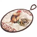 Подставка под горячее керамическая ″Петух роскошный″ 13*19см купить оптом и в розницу