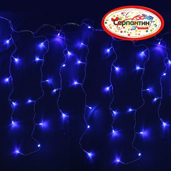Бахрома светодиодная 3 х 0,3/0,5 м, 120 ламп LED, Синий, 8 режимов купить оптом и в розницу