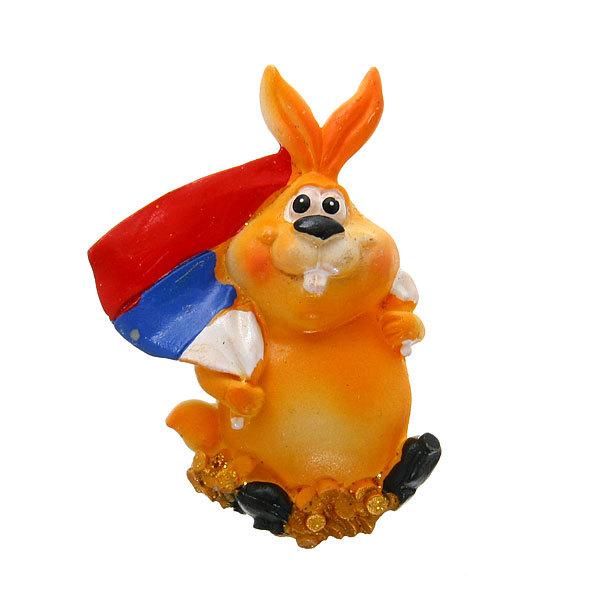 Магнит из полистоуна ″Кролик с флагом″ купить оптом и в розницу