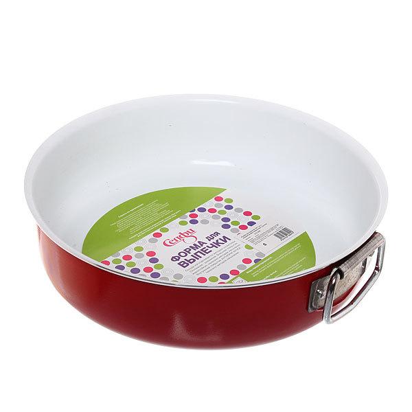 Форма для выпечки металлическая 25*7 см с керамическим покрытием с ручкой купить оптом и в розницу