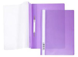 Папка-скоросшиватель A4 Hatber 140/180 мкм фиолетовая, пластик, прозр.верх купить оптом и в розницу