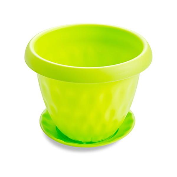 Горшок для цветов″Розетта″ 4,9л Д245 c поддоном зеленый С128ЗЕЛ купить оптом и в розницу