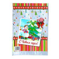 Пакет подарочный ПВХ 40х24,5 см ″Новогодний″ Снеговичок купить оптом и в розницу