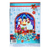 Пакет подарочный ПВХ 40х24,5 см ″Новогодний″ Три снеговичка купить оптом и в розницу