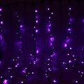 Занавес светодиодный уличный ш 2 * в 3м, 432 лампы LED,″Дождь″, Фиолетовый, 8 реж, черн.пров купить оптом и в розницу