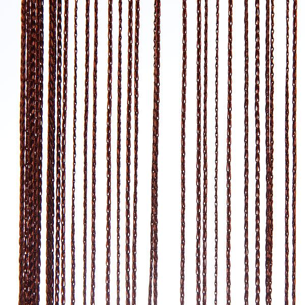 Занавеска нитяная 1*2м однотонная Ультрамарин купить оптом и в розницу