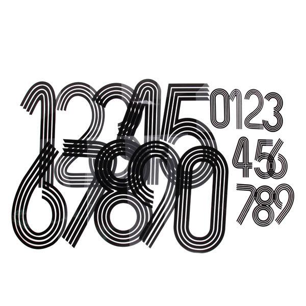 Термоаппликация Номер на футболку 003 (чёрный, большие цифры: 0-9, маленькие: 0-9) купить оптом и в розницу