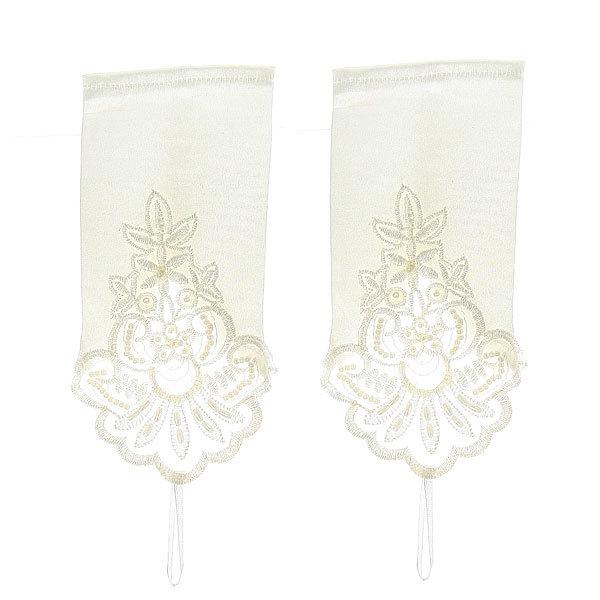 Свадебный аксессуар Перчатки невесты с вышивкой 20 см без пальцев 801 купить оптом и в розницу