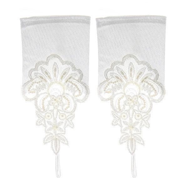 Перчатки для невесты с вышивкой 20 см без пальцев купить оптом и в розницу