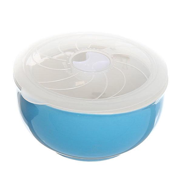 Набор салатников керамических 3шт с крышками ″Радуга″ 200,400,800мл голубой купить оптом и в розницу