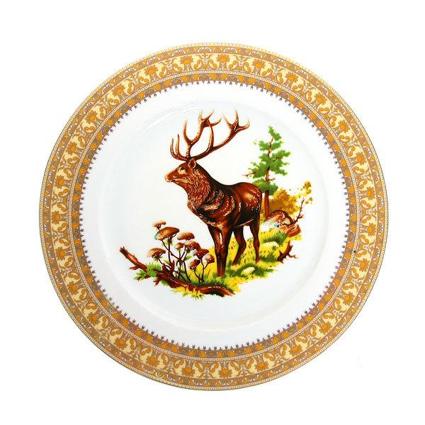 Набор тарелок керамических 6 шт ″Охота″ купить оптом и в розницу