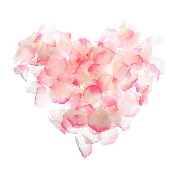 Лепестки роз розовые 144 шт в упаковке 4,5*4,5 купить оптом и в розницу