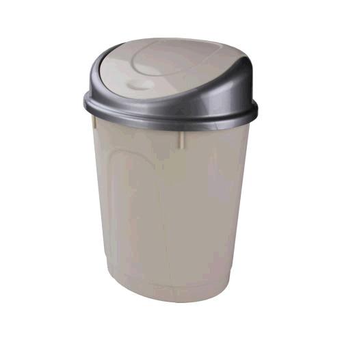 Контейнер для мусора 8л (овальный)(слон.кость)(уп.5) (Октябрьский) купить оптом и в розницу