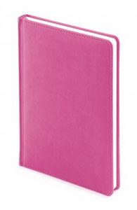 Ежедневник б/дат А5+ Альт 136л 145*205 Velvet розовый,лин., тв.обл. купить оптом и в розницу