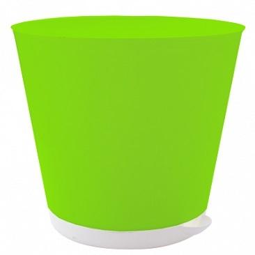 Горшок для цветов Крит D 120 mm с системой прикорневого полива 0,7л салатовый*16 купить оптом и в розницу