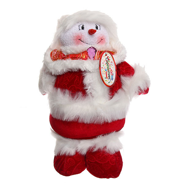 Мягкая игрушка Снеговичок 40см купить оптом и в розницу