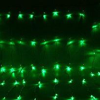 Занавес светодиодный ш 2 * в 2,5м, 672 лампы LED, ″Водопад″, Зеленый, 8 реж, прозр.пров. купить оптом и в розницу