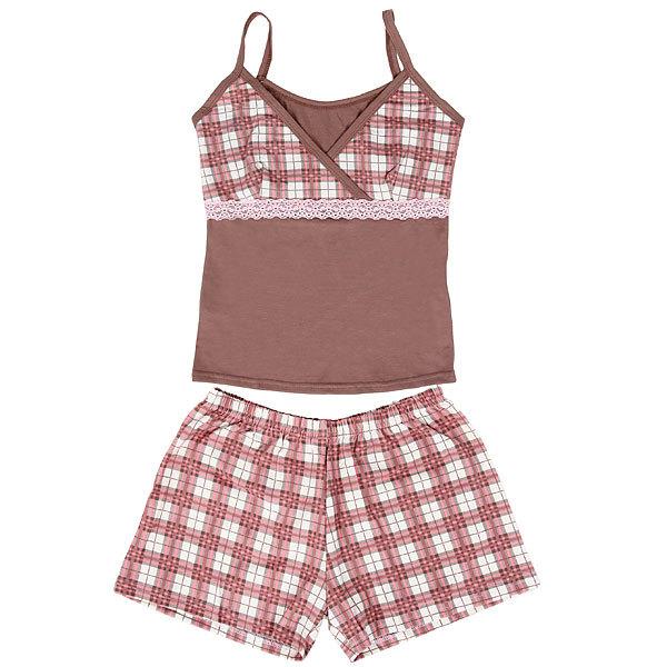Пижама женская цвет кофейный р 46 купить оптом и в розницу