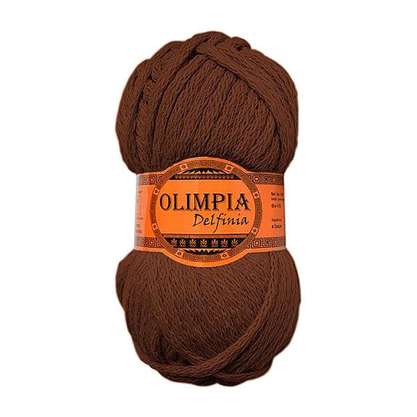 Пряжа для вязания Olimpia Delfinia цв.DL01 шоколад 500г 5шт купить оптом и в розницу