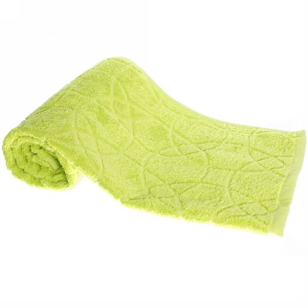 Махровое полотенце 70*140см яблочно-зеленое жаккард ЖК140-2-008-008 купить оптом и в розницу