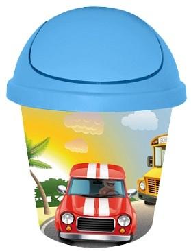 Детская мусорная корзина круглая 7 л. City Cars*10 купить оптом и в розницу