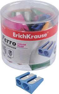Точилка металл.Erich Krause двойная Ferro Color Plus купить оптом и в розницу
