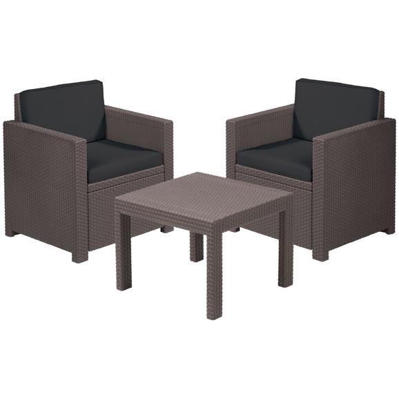 Набор мебели (2 стула, стол) Victoria Balcony коричневый/бежевый с подушками купить оптом и в розницу