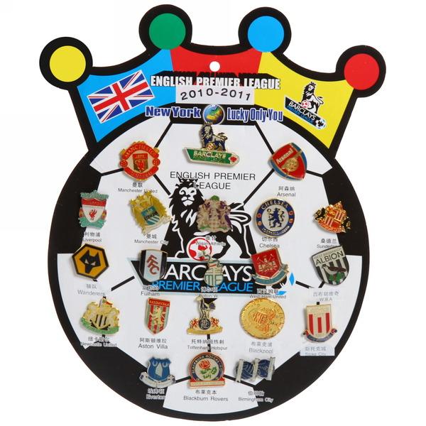 Значки ″Премьер Лига Англии 2011″ (набор 21шт) купить оптом и в розницу