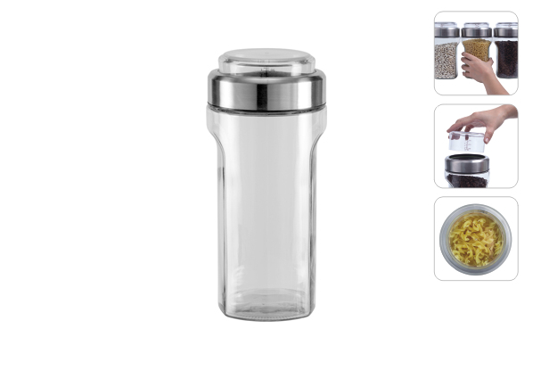 Ёмкость для сыпучих продуктов с мерным стаканом, 1,15 л, NADOBA, серия PETRA*12 купить оптом и в розницу