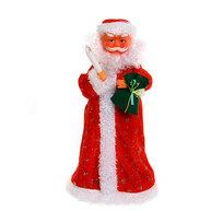 Дед Мороз музыкальный 40см на батарейках купить оптом и в розницу