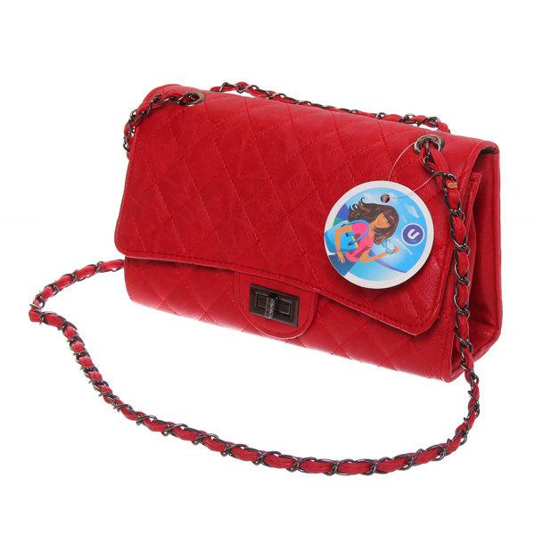Сумка через плечо женская с длинным ремешком ″Коллекция NEW - Шик″ 3 отд. красный цвет 26*16*8,5 739-18 купить оптом и в розницу