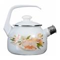 Чайник эмалированный 2,5л со свистком ″Орхидея″ купить оптом и в розницу