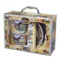 Набор чайный из керамики 4 предмета ″Лошади″ H034B купить оптом и в розницу
