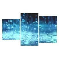 Картина модульная триптих 55*96 см, капли купить оптом и в розницу