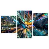 Картина модульная триптих 55*96 Город диз.1 21-01 купить оптом и в розницу