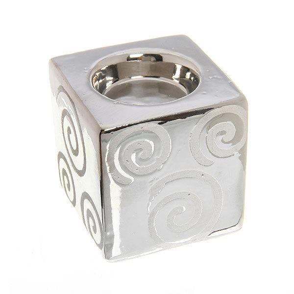Подсвечник из керамики ″ Куб круги ″ 30002 купить оптом и в розницу