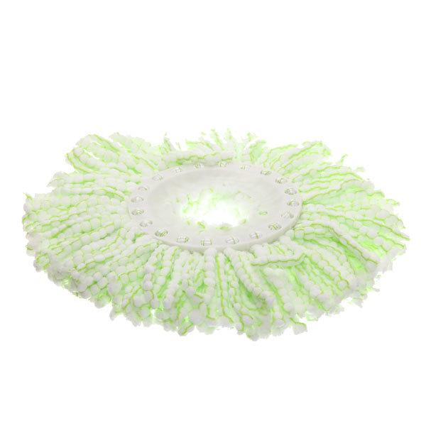 Набор для мылья полов (ведро с отжимом, швабра, две насадки) серо-зеленый купить оптом и в розницу