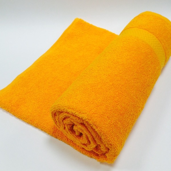 Полотенце махровое 50х90 цв.оранжевый Марьины узоры купить оптом и в розницу