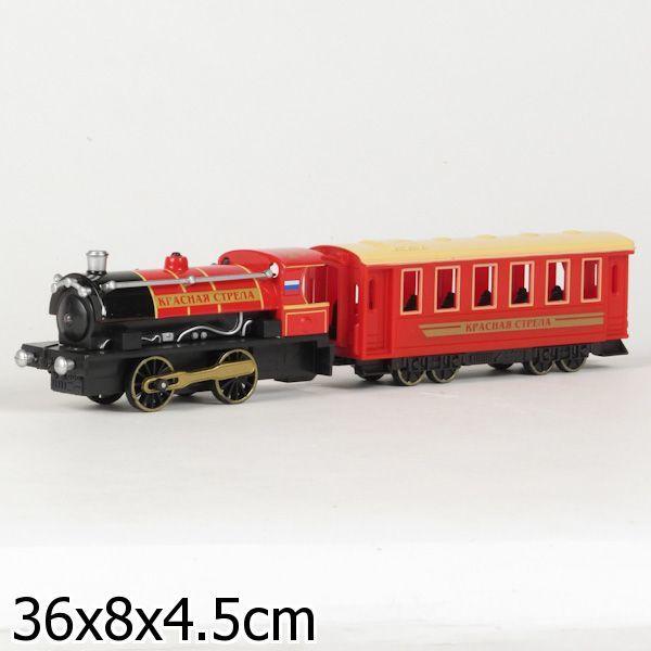 """Модель СТ10-038 Поезд с вагоном """"Технопарк"""" в кор. купить оптом и в розницу"""