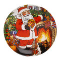 Тарелка керамическая 20см ″Дед Мороз″ в подарочной коробке купить оптом и в розницу