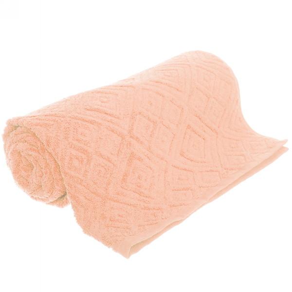 Махровое полотенце 70*140см ИТУМА Жаккард средний оранжевый ЖК140-2-005-011 купить оптом и в розницу