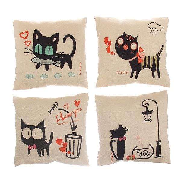 Подушка декоративная Арома 18*18см ″Коты″ купить оптом и в розницу
