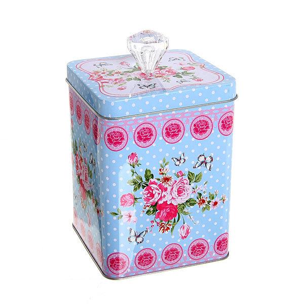 Набор банок для продуктов металлических 3 шт 200,500,1000 мл ″Цветочный микс″ букетик купить оптом и в розницу
