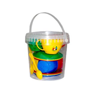 Набор посуды Чайный в ведерке 083 купить оптом и в розницу