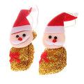 Ёлочная игрушка мягкая, набор 2шт, 14см ″Мешочек Деда Мороза″ купить оптом и в розницу