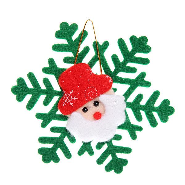 Ёлочная игрушка мягкая 15,5см ″Снежинка″ купить оптом и в розницу