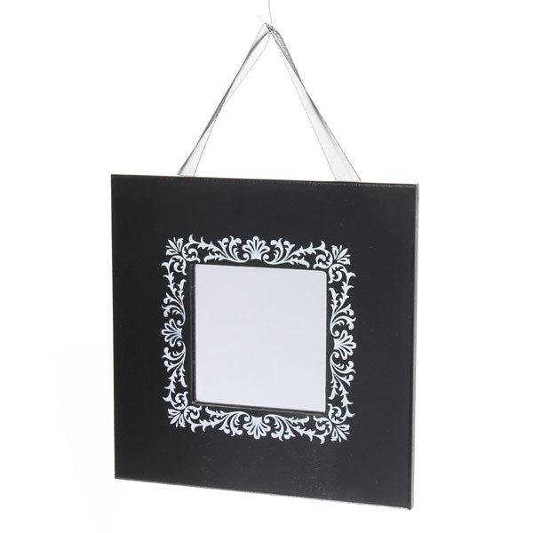 Зеркало настенное в деревянной рамке ″Кружева″ 20*20см S104 купить оптом и в розницу