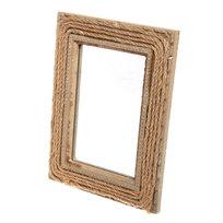 Зеркало настенное в рамке ″Плетенка″ 20*15,5см SS00 купить оптом и в розницу