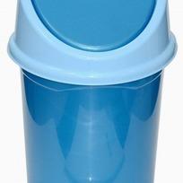 Ведро с подвижной крышкой 8л. (сине/гол) *24 купить оптом и в розницу