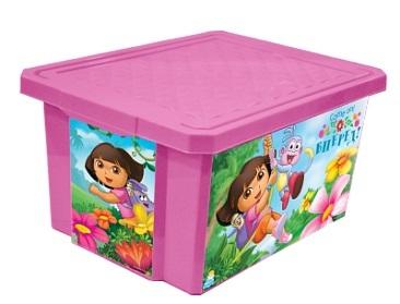 """Детский ящик для хранения игрушек """"X-BOX"""" """"ДАША ПУТЕШЕСТВЕННИЦА"""" 17л*12 купить оптом и в розницу"""